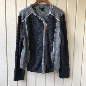 Lucky Brand Knitted Asymmetrical Moro Jacket